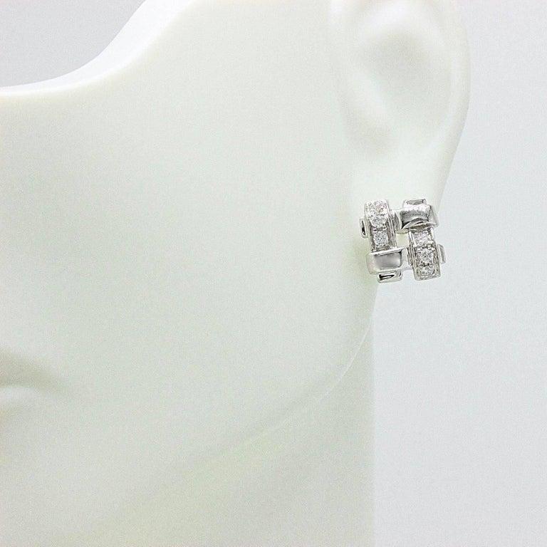Tiffany & Co. 18 Karat Gold Diamond Vannerie Basket Weave Earrings 0.25 Carat For Sale 5