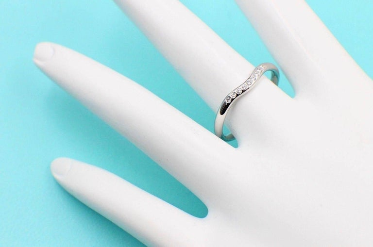 Tiffany Co Style Elsa Peretti Wedding Band Ring Serial Number 15636939 Metal