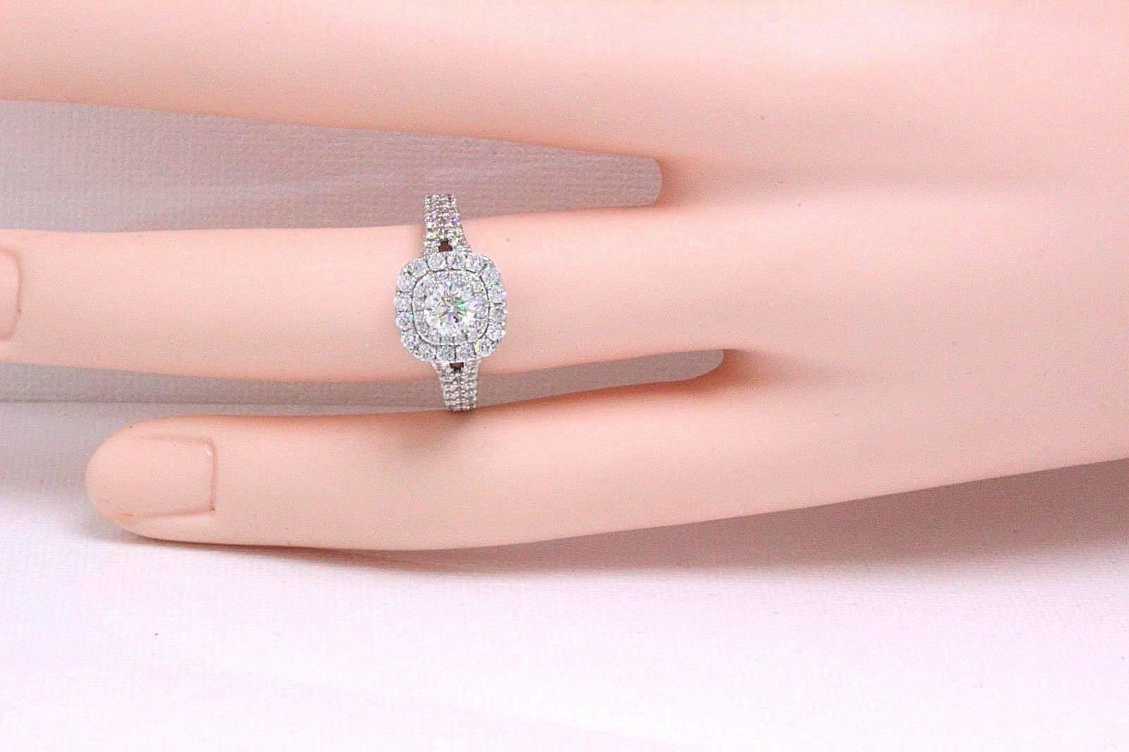 Vera Wang Love Diamond Engagement Ring 1.50 Carat in 14 Karat White ...