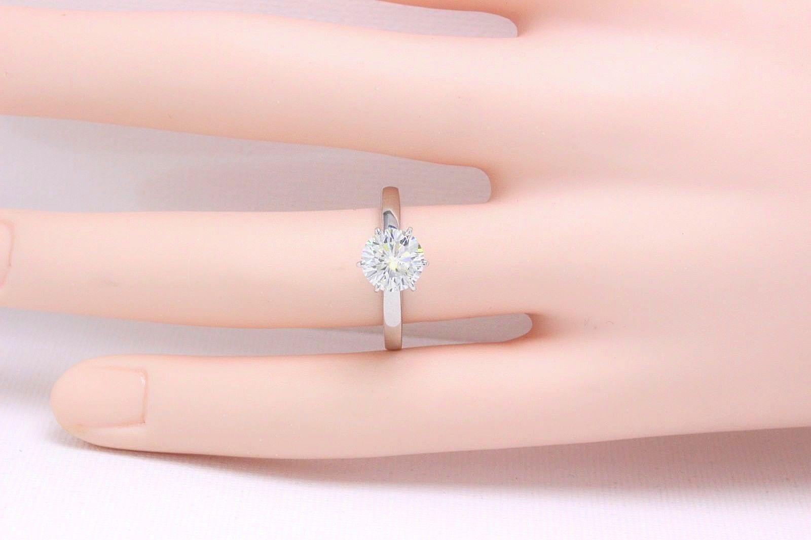 Leo Diamond Solitaire Engagement Ring Round Cut 1.64 CTS I SI1 14K ...