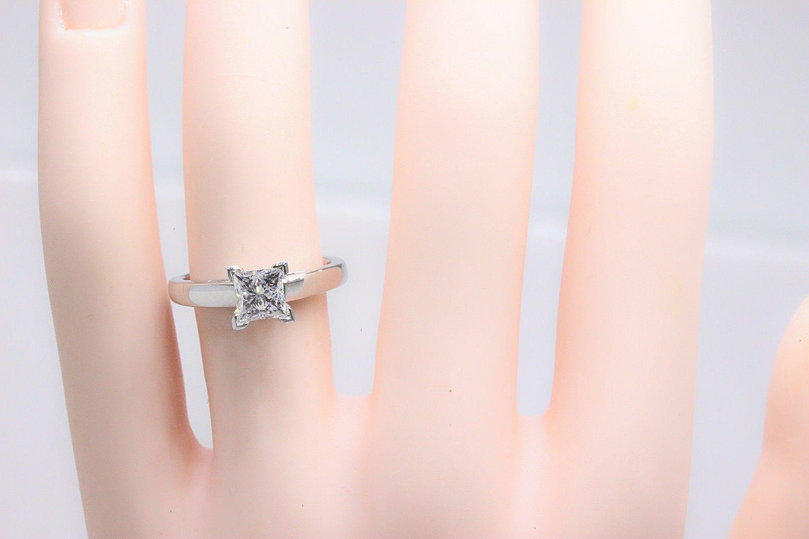 Leo Diamond Princess Cut 1.01 CT D VS1 Solitaire Engagement Ring 14K ...