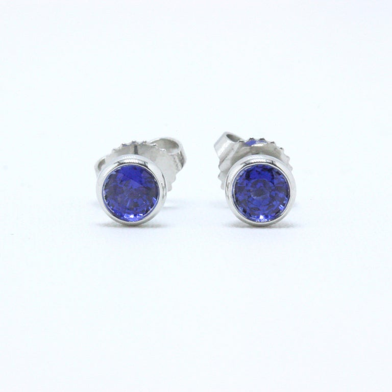 Tiffany & Co. Elsa Peretti Sapphire Color, the Yard Earrings 0.70 Carat Platinum In Excellent Condition For Sale In San Diego, CA