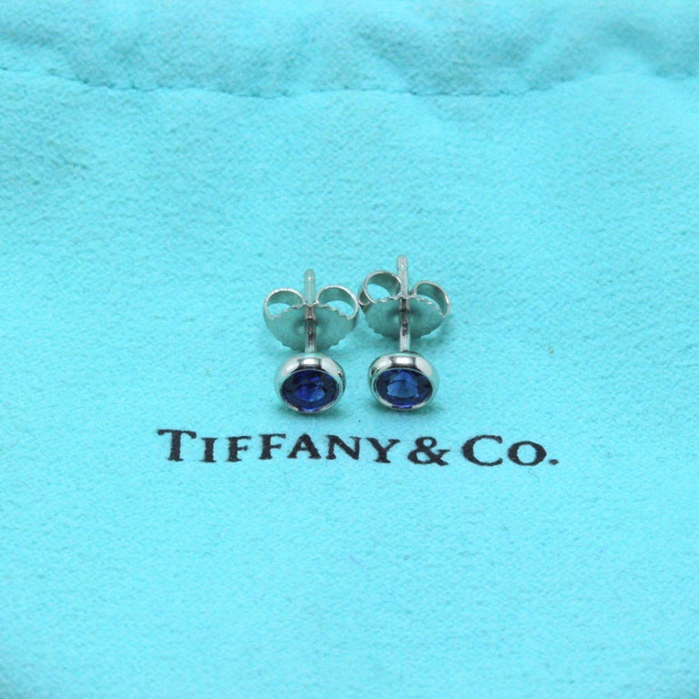 Tiffany & Co. Elsa Peretti Sapphire Color, the Yard Earrings 0.70 Carat Platinum For Sale 1