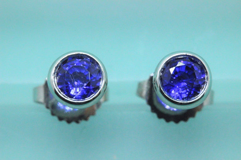 Tiffany & Co. Elsa Peretti Sapphire Color, the Yard Earrings 0.70 Carat Platinum For Sale 2
