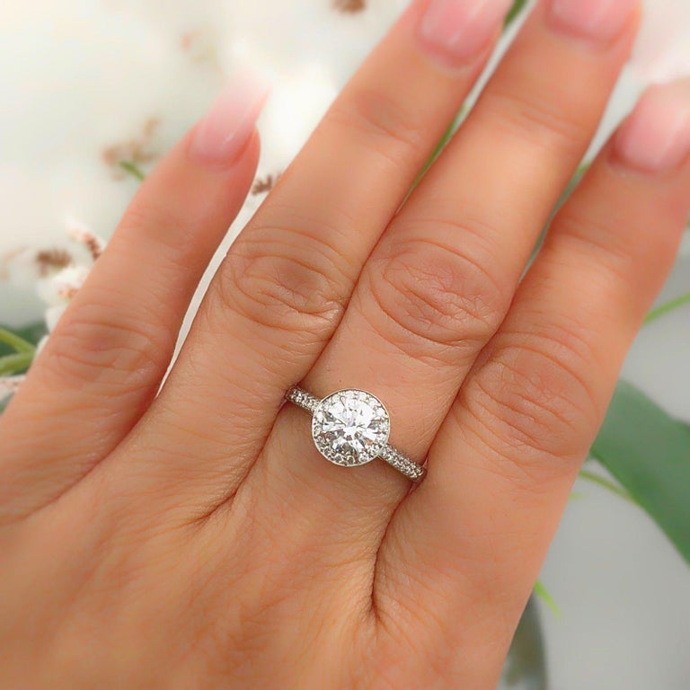49eee482ac1bc9 Tiffany & Co. Style: Soleste Diamond Engagement Ring Serial Number:  27090443 / L07270282