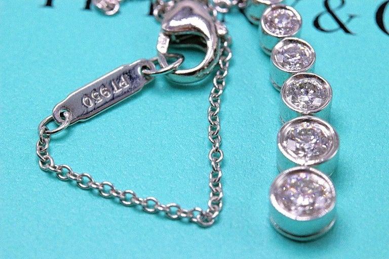 Tiffany & Co. Diamond Jazz Graduated Drop Pendant Necklace in Platinum 0.50 TCW For Sale 6
