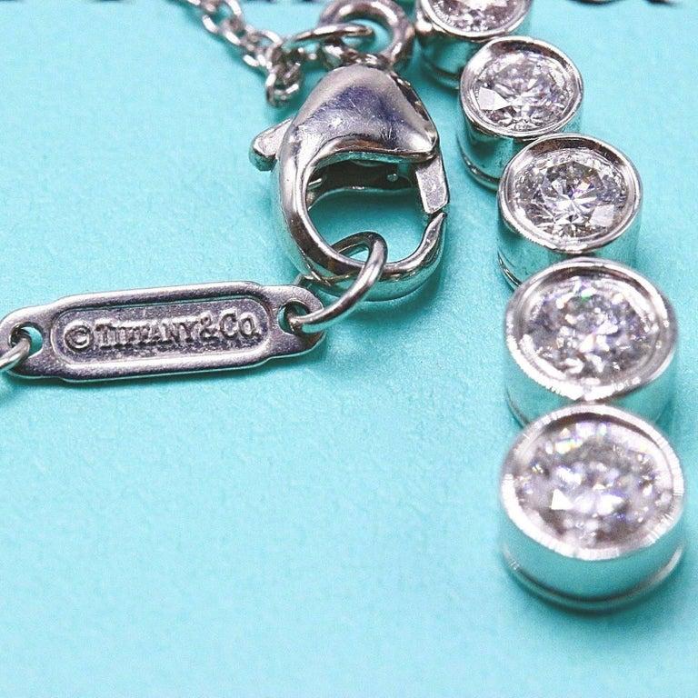 Tiffany & Co. Diamond Jazz Graduated Drop Pendant Necklace in Platinum 0.50 TCW For Sale 5