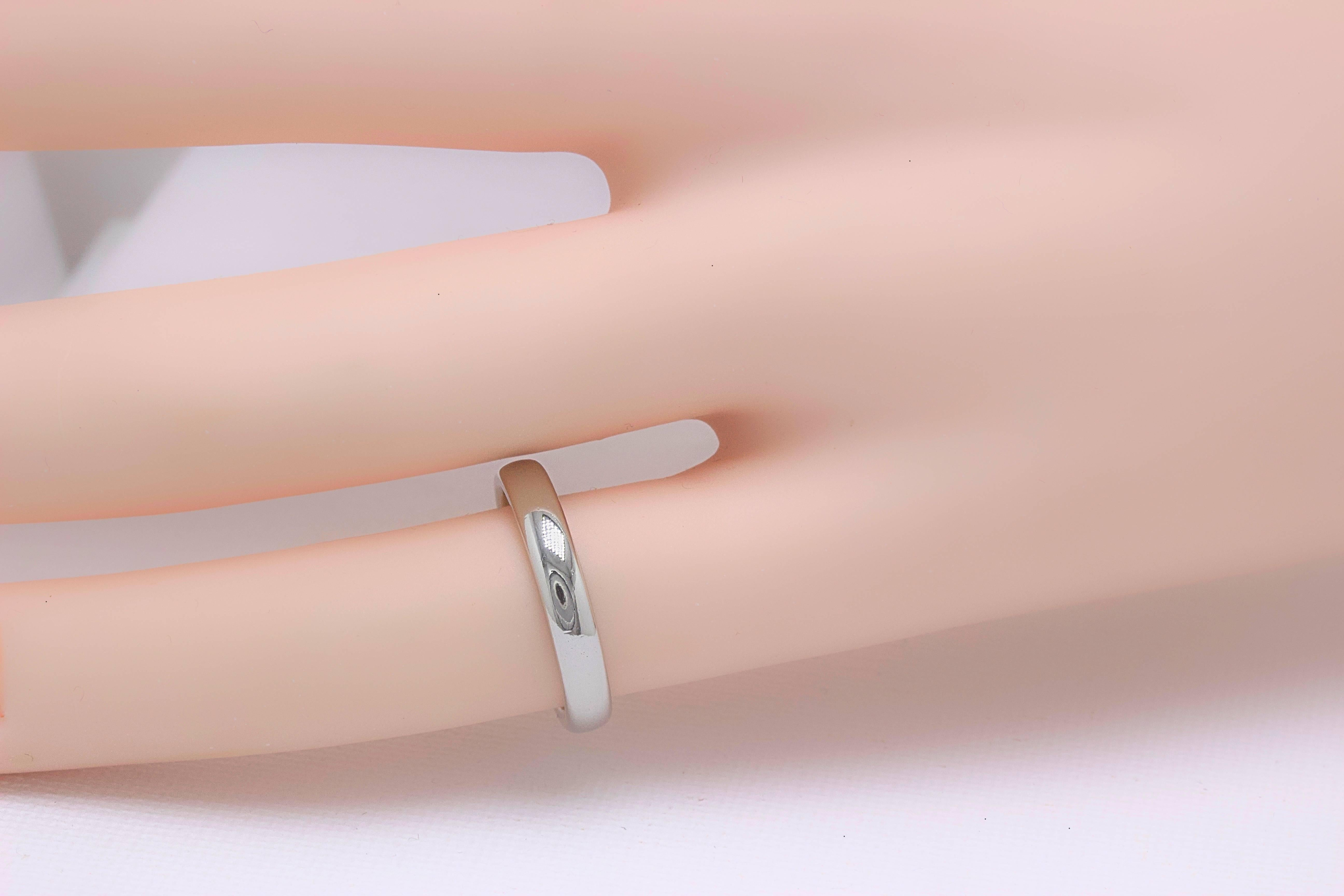 Tiffany and Co. Lucida Platinum Wedding Band Ring 3 mm For Sale at ...