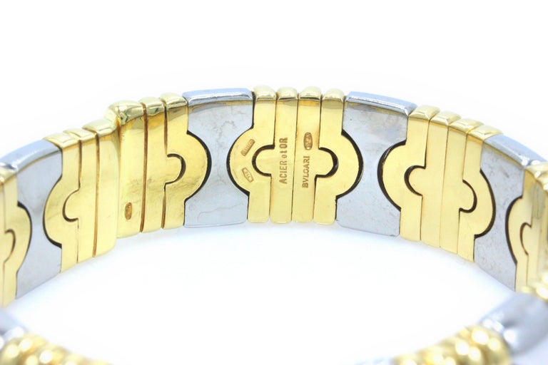 Bvlgari Parentesi Cuff Bracelet 18k Yellow & White Gold 15mm 15k Value For Sale 7