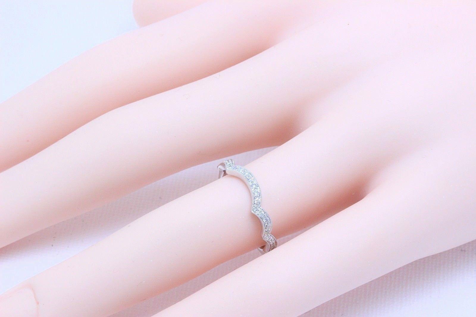 Neil Lane Diamond Wedding Band Ring Bridal 14 Karat White Gold For ...