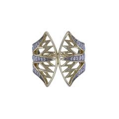 Nymphaea 18 Karat Yellow Gold Diamond Cocktail Ring