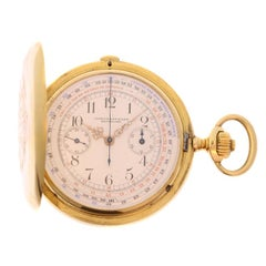 Longines Antique 18 Karat Yellow Gold Chronometer Pocket Watch, circa 1900