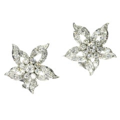 Estate Diamond Loaded '3.50 Carat' Ear Clips