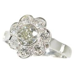 1950s Vintage Diamond Engagement Ring with 1.32 Total Carat Weight