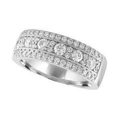 Nasbro Diamond 14 Karat White Gold Band Ring