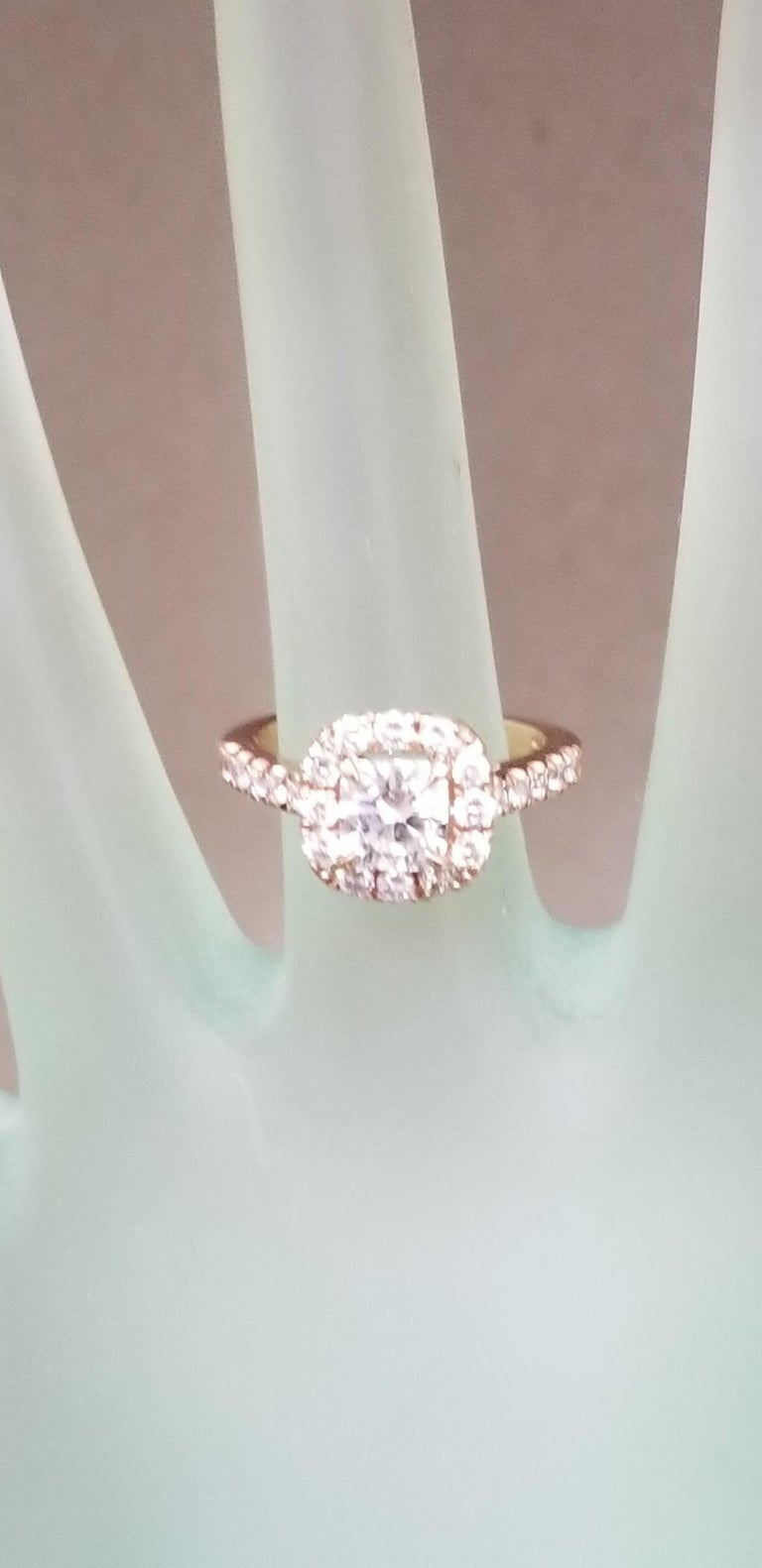 .97 Carat Radiant Diamond in Halo Ring For Sale 1