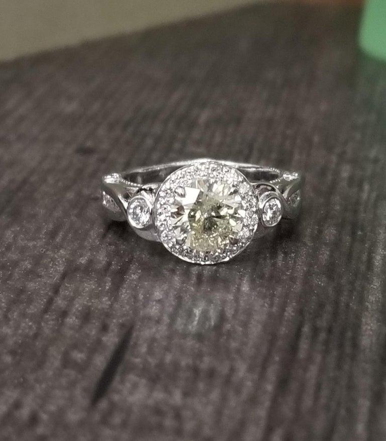955ccb8b0 14k white gold ladies diamond ring containing 1 brilliant cut diamond; color