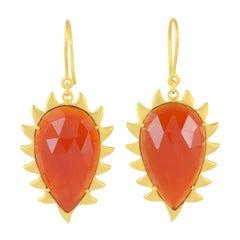 Meghna Jewels Carnelian Claw Drop Earrings