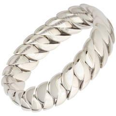 Expandable Gold Curb Link Bangle Bracelet