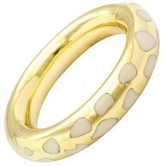 Tiffany & Co. Coral Gold Tubular Bangle Bracelet