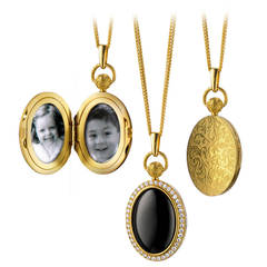A Black Onyx, Diamond and Gold Locket by Monica Rich Kosann