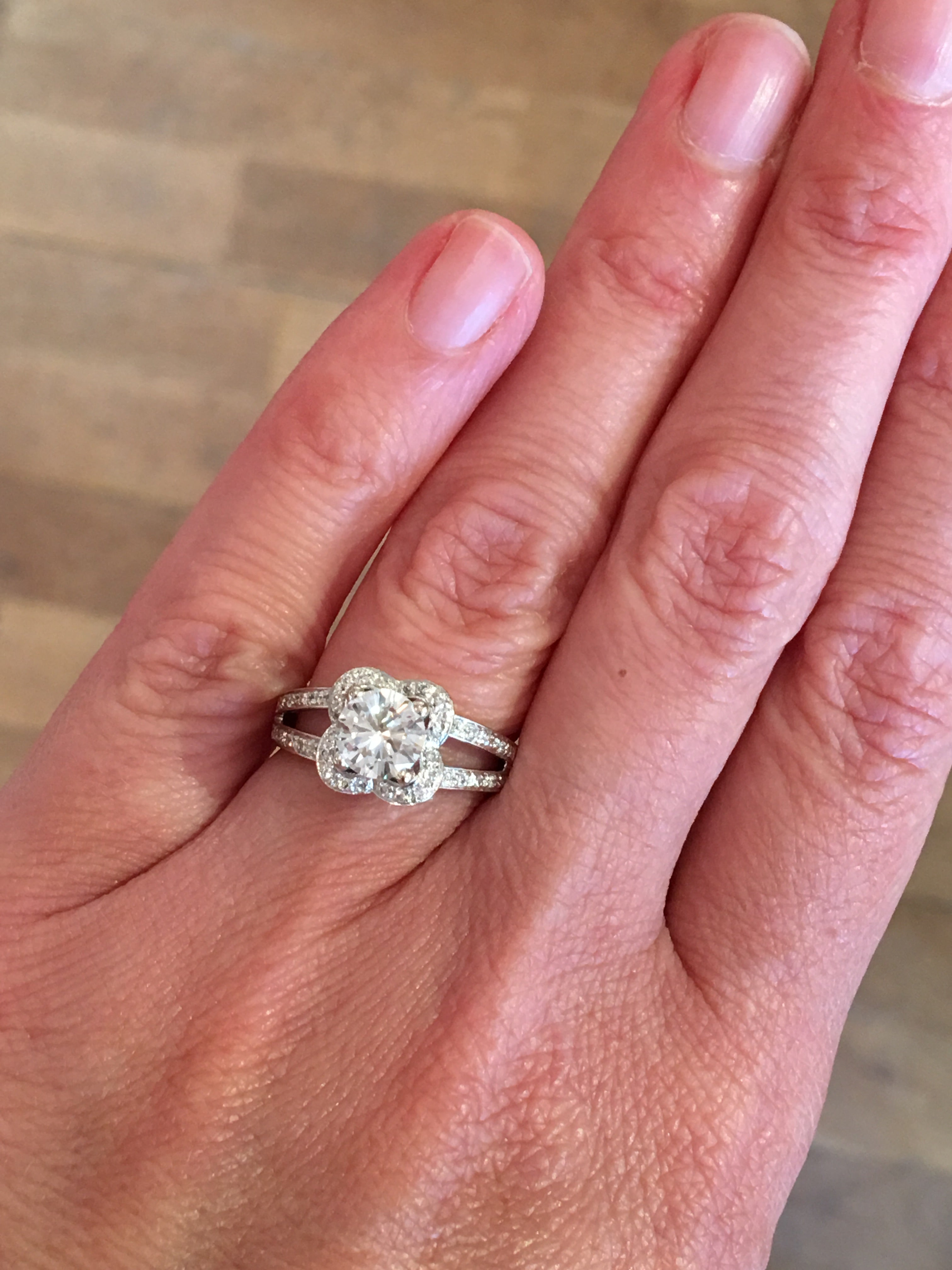 Mauboussin Chance of Love 1 Carat Round Diamond White Gold Ring For ...