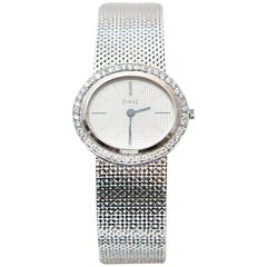 Piaget Ladies White Gold Diamond Manual Wristwatch