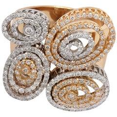 Ponte Vecchio Gioielli 18 Karat Gold Diamond Cocktail Ring