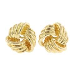 Tiffany & Co. 18 Karat Yellow Gold Love Knot Earrings