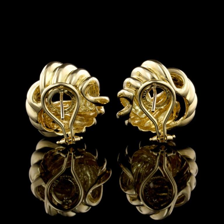 Women S Tiffany Co 18 Karat Yellow Gold Love Knot Earrings For