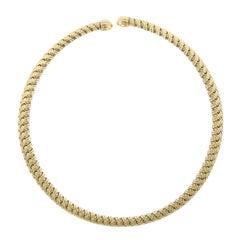 Jean Vitau, Gemveto 18 Karat Yellow Gold Necklace