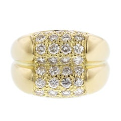 Bulgari 18 Karat Yellow Gold Diamond Ring