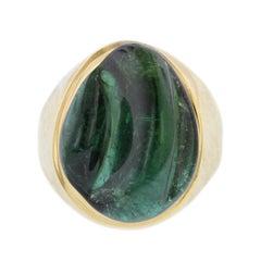 Burle Marx 18 Karat Yellow Gold Forma Livre Green Tourmaline Ring