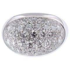 Cartier Myst De Cartier 18 Karat White Gold Rock Crystal Diamond Ring