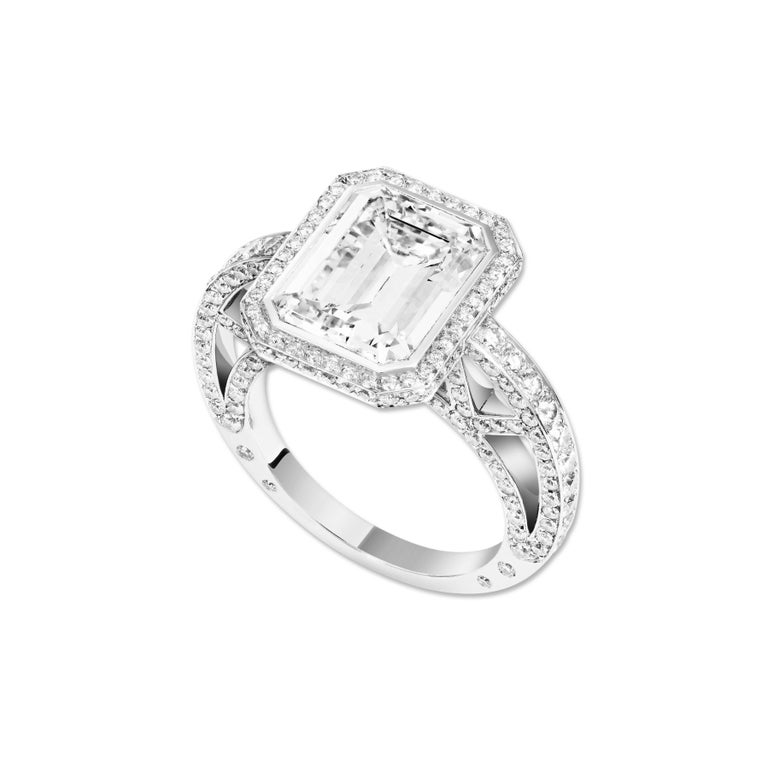 Lorenz Bäumer Exceptional HRD Certificate 4.34 Carat Diamond Solitaire Ring