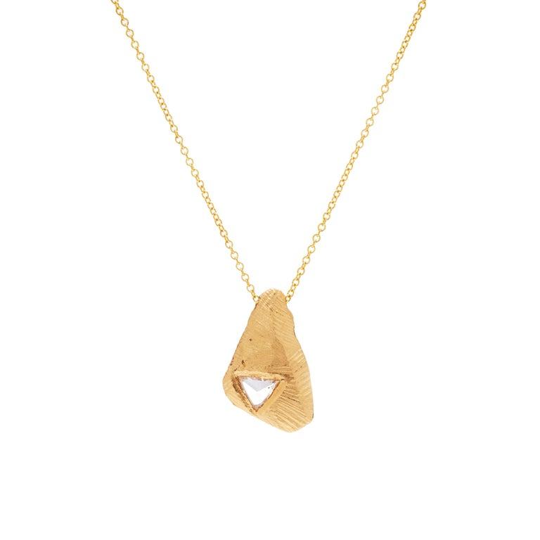 18 Karat Gold One-of-a-Kind Diamond Necklace