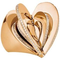 Cadar Endless Cocktail Ring, 18 Karat Rose Gold and White Diamonds