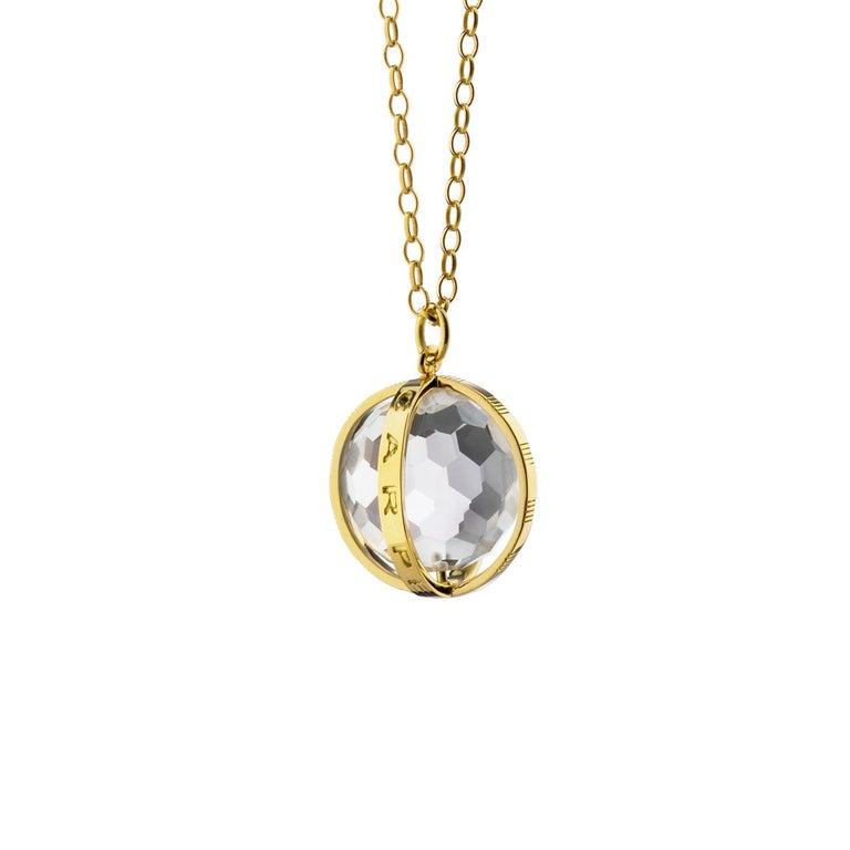 "Monica Rich Kosann 18 Karat Yellow Gold Large ""Carpe Diem"" Charm Necklace"