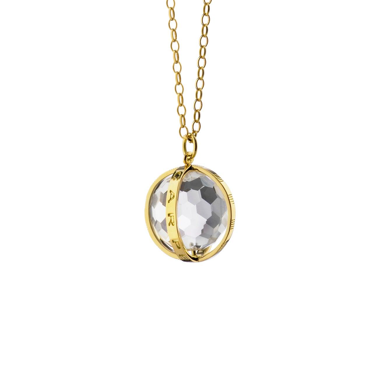 "Monica Rich Kosann 18K Yellow Gold Large ""Carpe Diem"" Charm Necklace"