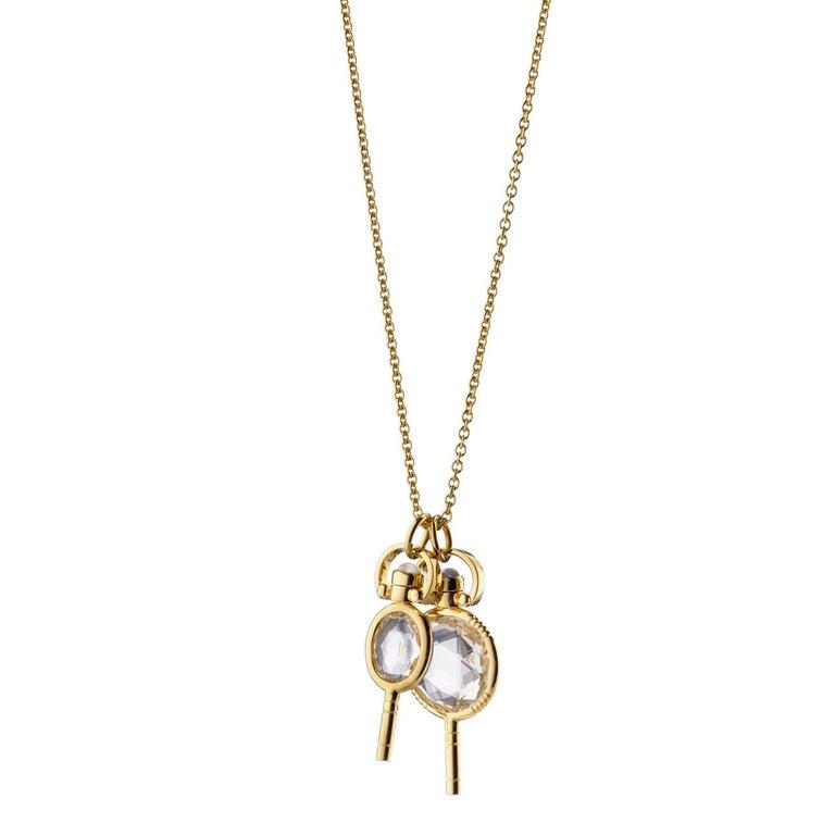 Monica Rich Kosann 18 Karat Yellow Gold Miniature Pocket Watch Key Necklace