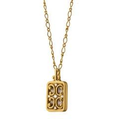 Monica Rich Kosann Rectangle Gate Locket in High Polished 18 Karat Yellow Gold