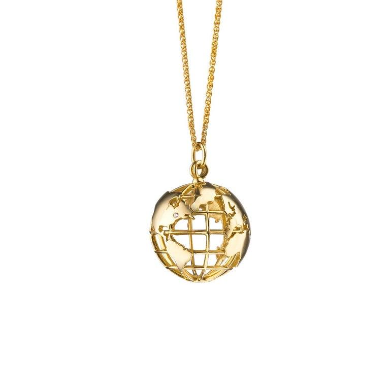 "Monica Rich Kosann 18 Karat Yellow Gold ""My Earth"" Charm Necklace"