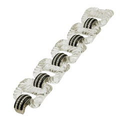 Seaman Schepps Rock Crystal Diamond Bracelet