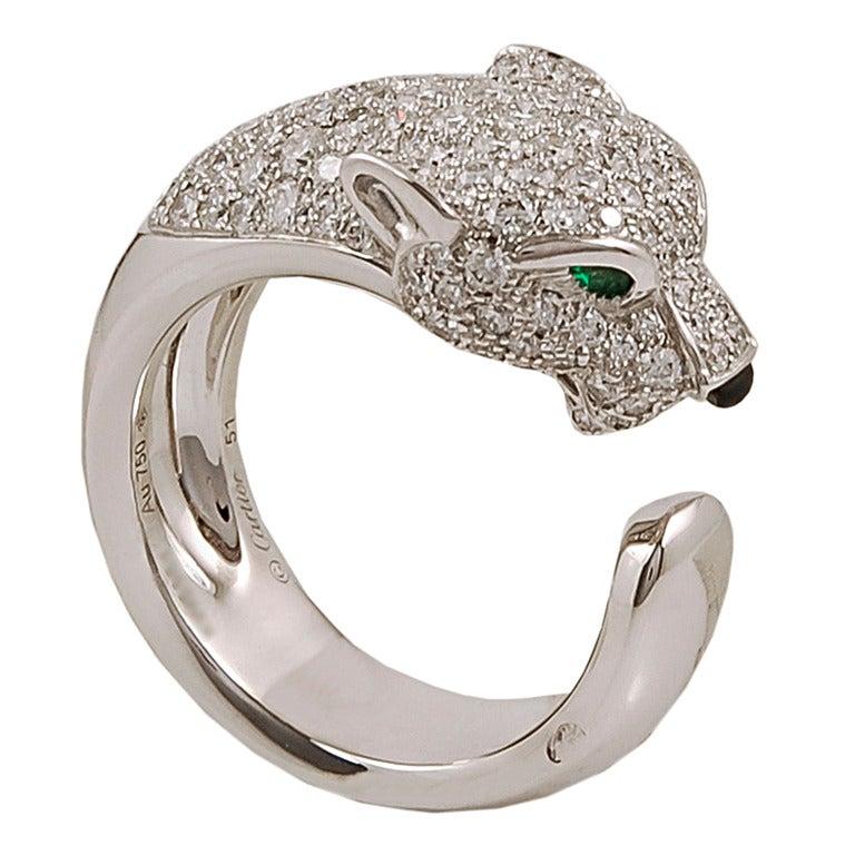 Cartier Diamond Gold Panthére Ring