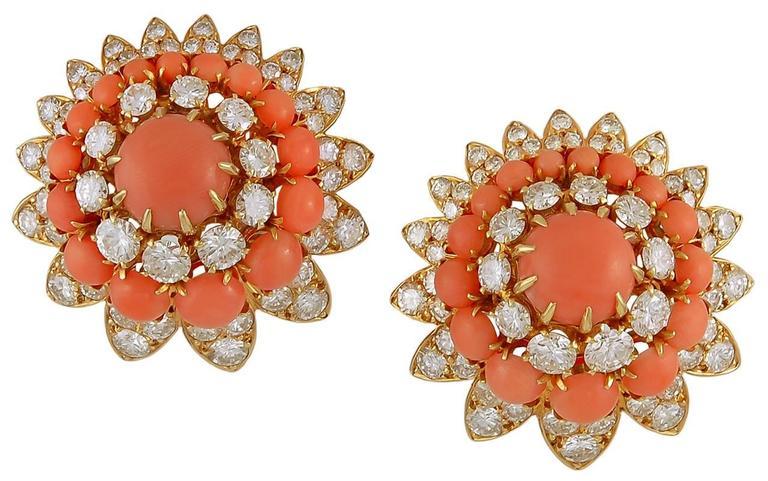 1970s Van Cleef & Arpels Coral & Diamond Suite 2