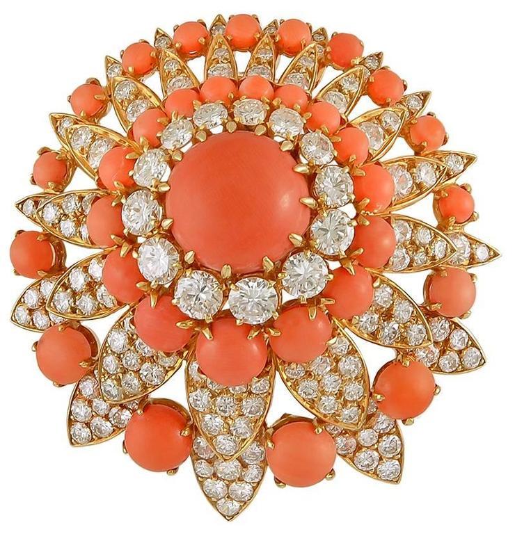 1970s Van Cleef & Arpels Coral & Diamond Suite 3