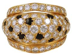 Cartier Diamond and Onyx Ring