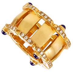 Patek Philippe Diamond and Sapphire Ring