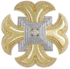 David Webb Diamond Maltese Cross Brooch