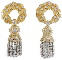 David Webb Diamond Ear Clips